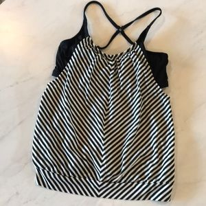 Athleta 34 D/DD underwire tankini top - momkini!